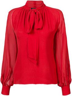 блузка с завязками на горловине  Giambattista Valli