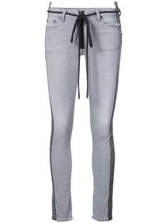 джинсы с контрастными полосками по бокам Off-White