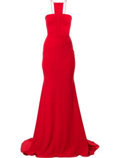 длинное платье Jordan с драпированной деталью  Alex Perry