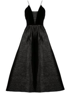 расклешенное платье миди Caleb Alex Perry