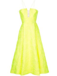 парчовое расклешенное вечернее платье Aaron Alex Perry