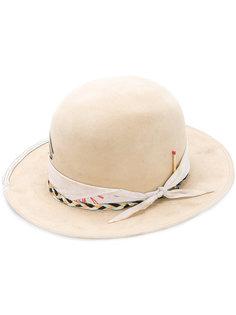 шляпа с плетеной отделкой и спичкой Nick Fouquet