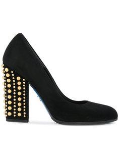 туфли-лодочки с заклепками на каблуке Loriblu