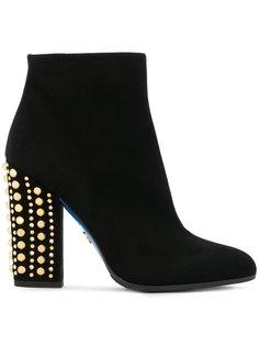 ботинки с заклепками на каблуке Loriblu