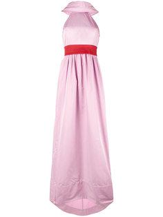 длинное платье с контрастным поясом Rosie Assoulin