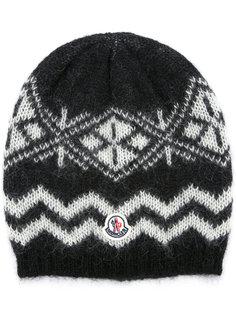 узорчатая шапка-бини Moncler