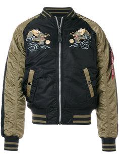 куртка-бомбер с вышитым драконом Alpha Industries