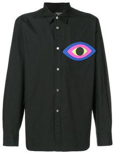 рубашка с заплаткой  в виде глаза Comme Des Garçons Homme Plus