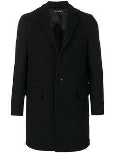 однобортное пальто Versace