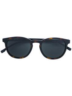 круглые солнцезащитные очки с эффектом черепашьего панциря Boss Hugo Boss