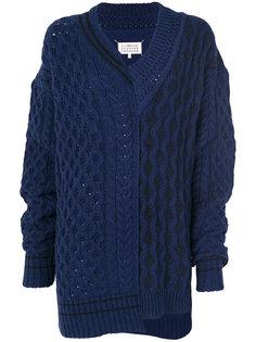 асимметричный свитер с узором косы Maison Margiela