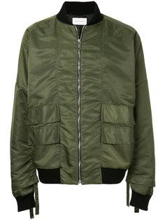 куртка-бомбер с заниженной линией плеч Strateas Carlucci