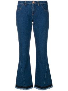 укороченные джинсы клеш с бахромой  See By Chloé