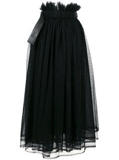 длинная юбка из тюля Comme Des Garçons Noir Kei Ninomiya