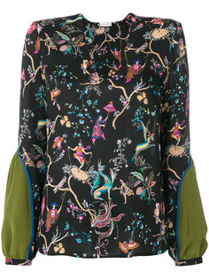 блузка с цветочным принтом  Etro