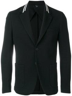 пиджак с полосками на воротнике Fendi