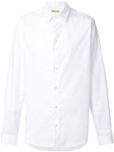 рубашка с вышивкой монограммы Versace Jeans