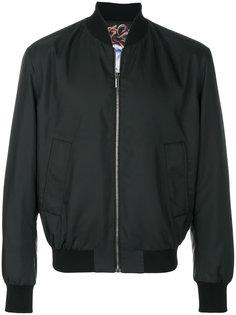 куртка-бомбер без воротника Versace