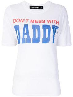 футболка с эффектом потертости Daddy Filles A Papa