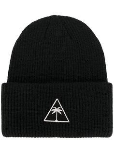 шапка с заплаткой с логотипом Palm Angels