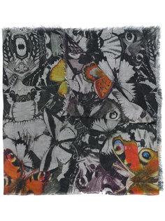 шарф с рисунком из бабочек Faliero Sarti