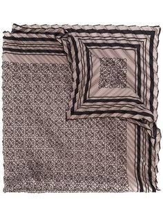 плиссированный шарф с принтом Anagram Loewe