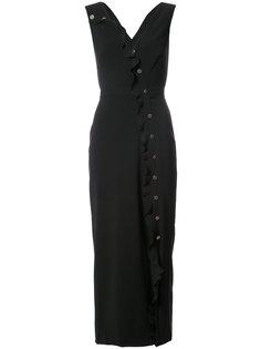 приталенное платье миди Saloni
