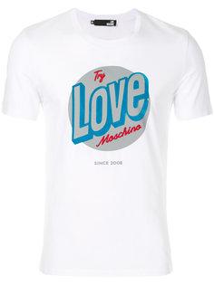 футболка с принтом с логотипом Love Moschino