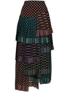 многослойная юбка в горох Zimmermann