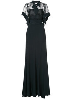вечернее платье с кружевной вставкой Rochas