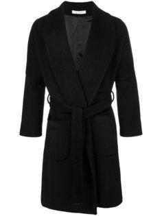 однобортное пальто с поясом Lucio Vanotti