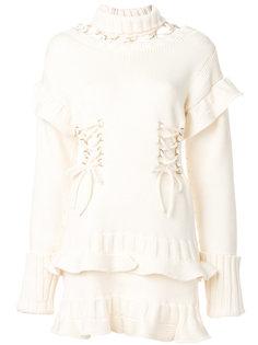 вязаное платье со шнуровкой и вырезными деталями Alexander McQueen