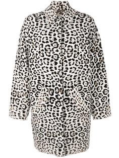 пальто с леопардовым узором  Michael Michael Kors