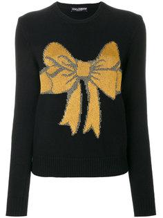 свитер с вышитым бантом Dolce & Gabbana