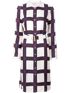 платье-рубашка в клетку Tory Burch