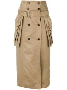 двубортная юбка Juun.J