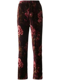 бархатные брюки с цветочным узором F.R.S For Restless Sleepers
