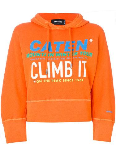 объемная толстовка 'Climb It' с капюшоном Dsquared2