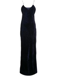 бархатное длинное платье Sasha Nili Lotan