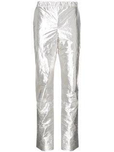 брюки с отделкой металлик  Sally Lapointe