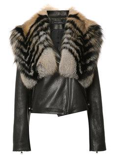 куртка с воротником из лисьего меха Sally Lapointe