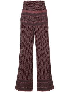 широкие брюки с плетеным узором Cecilie Copenhagen
