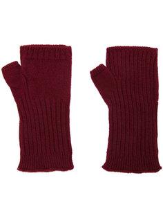 перчатки в рубчик без пальцев Undercover