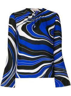 блузка с волнистым принтом  Emilio Pucci