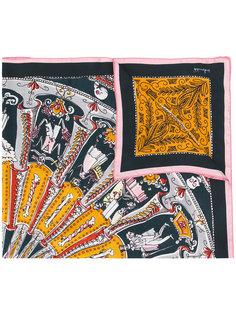 шарф с принтом скелетов Faliero Sarti