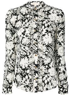 рубашка с цветочным принтом и оборкой  Michael Michael Kors