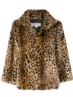 меховая куртка с леопардовым принтом  Michael Michael Kors