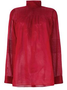 блузка с высоким воротом  Valentino