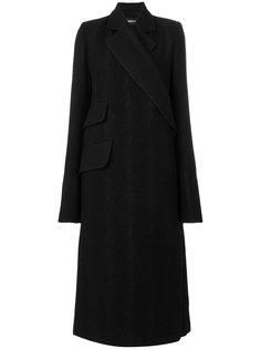 однобортное пальто с запахом  Ann Demeulemeester