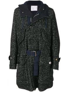пальто свободного кроя с капюшоном Sacai